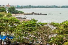 GALLE, ΣΡΙ ΛΆΝΚΑ - 12 ΙΟΥΛΊΟΥ 2016: Άποψη μιας παραλίας στη Gal στοκ εικόνα με δικαίωμα ελεύθερης χρήσης