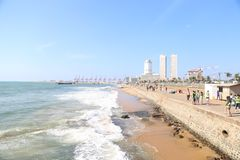 Galle Face Colombo Srilanka royalty free stock photography