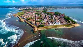 Galle fort aerial photography stock photo