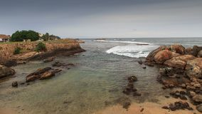 Galle coast line from inside the fort - Sri Lanka stock photography
