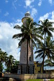 Galle-Fort lighthous und Palmen stockfotos
