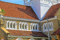 Galle Fort`s Anglican Church - Sri Lanka UNESCO World Heritage Royalty Free Stock Photo
