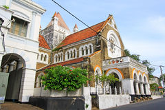 Galle Fort`s Anglican Church - Sri Lanka UNESCO World Heritage. Galle Fort, in the Bay of Galle on the southwest coast of Sri Lanka, was built first in 1588 by Royalty Free Stock Images