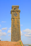 Galle Fort`s Anthonis Clock Tower - Sri Lanka UNESCO World Heritage Royalty Free Stock Image