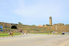 Galle Fort`s Anthonis Clock Tower - Sri Lanka UNESCO World Heritage Stock Images