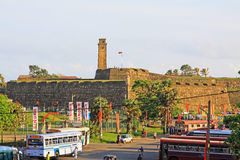 Galle Fort`s Anthonis Clock Tower - Sri Lanka UNESCO World Heritage Stock Photos