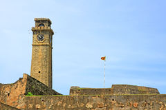 Galle Fort`s Anthonis Clock Tower - Sri Lanka UNESCO World Heritage Royalty Free Stock Photography