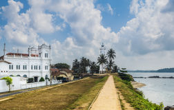 Galle fort in Sri Lanka is a prime Dutch colonial time city in A Royalty Free Stock Photo