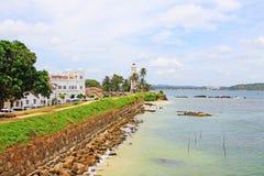 Galle fort - Sri Lanka UNESCO światowe dziedzictwo fotografia stock