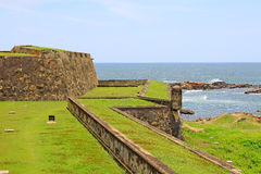 Galle Fort - Sri Lanka UNESCO World Heritage. Galle Fort, in the Bay of Galle on the southwest coast of Sri Lanka, was built first in 1588 by the Portuguese Royalty Free Stock Photo