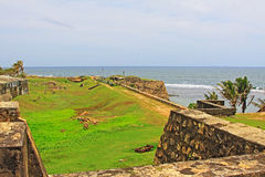 Galle Fort - Sri Lanka UNESCO World Heritage. Galle Fort, in the Bay of Galle on the southwest coast of Sri Lanka, was built first in 1588 by the Portuguese Royalty Free Stock Photography