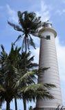 Galle-Leuchtturm eingestellt gegen einen blauen Himmel Stockfotografie