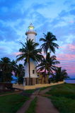 Galle Lighthouse. Lighthouse at Galle fort, Srilanka at dusk Stock Images