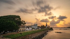 Galle lighthouse dutch fort stock photos