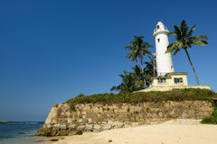 Galle Lighthouse in fort Galle, Sri Lanka. Colonial fine condition building development of the fort Galle on Sri Lanka. The photograph is presenting Galle Stock Image