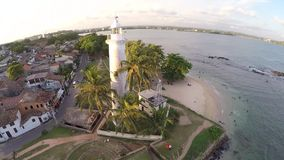 Galle lighthouse stock footage