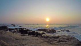 Galle solnedgång, Shri Lanka lager videofilmer