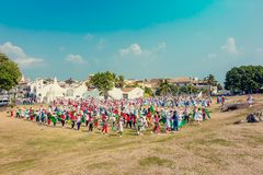 School celebration in fort Galle Stock Photography