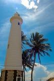 Galle Sri Lanka fyr med blå himmel Julian Bound Arkivfoto
