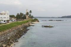 GALLE SRI LANKA, GRUDZIEŃ, - 09, 2016: Teren blisko latarni morskiej, fort obraz royalty free