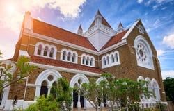 GALLE SRI-LANKA/JANUARY 30,2017: All anglikansk kyrka för helgon i den gamla staden av Galle Arkivbilder