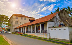 GALLE SRI-LANKA/JANUARY 30,2017: Det nationella museet i Galle Royaltyfria Foton