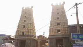 GALLE, SRI LANKA - MÄRZ 2014: Die Ansicht eines hindischen Tempels in Galle Galle ist die Verwaltungshauptstadt der südlichen Pro stock footage