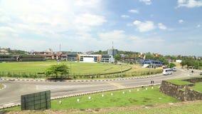GALLE, SRI LANKA - MÄRZ 2014: Pan schoss von schönem Galle-Fort Galle ist die Verwaltungshauptstadt der südlichen Provinz, Sri La stock video footage
