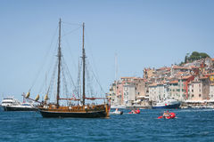 Galleass dans Rovinj Photo stock