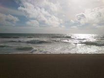 Galleface海滩 库存照片