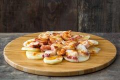 gallega pulpo Λα Της Γαλικίας χταπόδι Χαρακτηριστικά ισπανικά τρόφιμα Στοκ Εικόνα