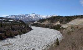 Galleggiamento del ghiaccio nell'Alaska immagini stock