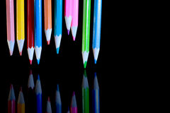 Galleggiamento delle matite immagini stock