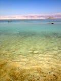Galleggiando sul mar Morto, Israele Fotografie Stock Libere da Diritti
