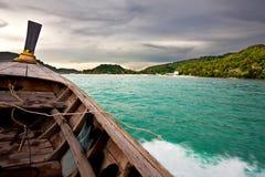 Galleggiando sulla barca Fotografia Stock