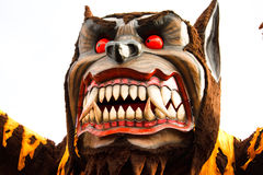 Galleggiante del lupo di carnevale Immagini Stock Libere da Diritti