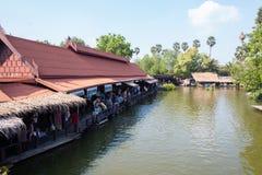Galleggiante del mercato a Ayutthaya fotografia stock libera da diritti