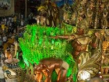 Galleggiante della giungla, carnevale 2008 di Rio. Immagini Stock