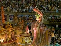 Galleggiante di Beija Flor, carnevale 2008 di Rio. Immagini Stock Libere da Diritti