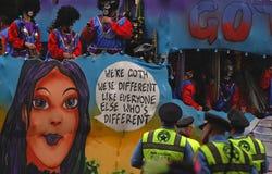 Galleggiante di Goth in Zulu Parade immagini stock libere da diritti
