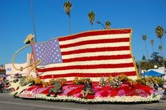 Galleggiante di parata della bandiera nazionale degli Stati Uniti Immagine Stock