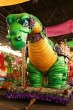 Galleggiante di parata di Mardi Gras Fotografie Stock