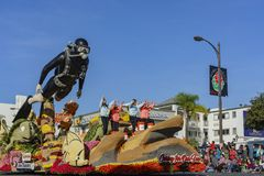 Galleggiante di Taiwan China Airlines in Rose Parade famosa immagini stock libere da diritti