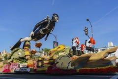 Galleggiante di Taiwan China Airlines in Rose Parade famosa fotografia stock libera da diritti