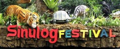 Galleggiante Filippine di festival di Cebu Sinulog immagine stock libera da diritti