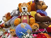 Galleggiante rotativo 2011 di parata della ciotola di Rosa del comitato Fotografia Stock Libera da Diritti