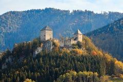 Gallenstein城堡,在1278年建立 Sankt加连,施蒂里亚,奥地利的状态的自治市 免版税库存图片