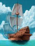 Galleon illustration libre de droits
