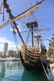 Galleon. Spanish Galleon replica in Alicante Spain stock image