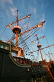 Galleon. Docked in marina,Poland Stock Photo